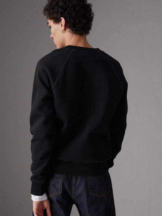 Sweat-shirt en jersey brodé (Noir) - Homme | Burberry - cell image 2
