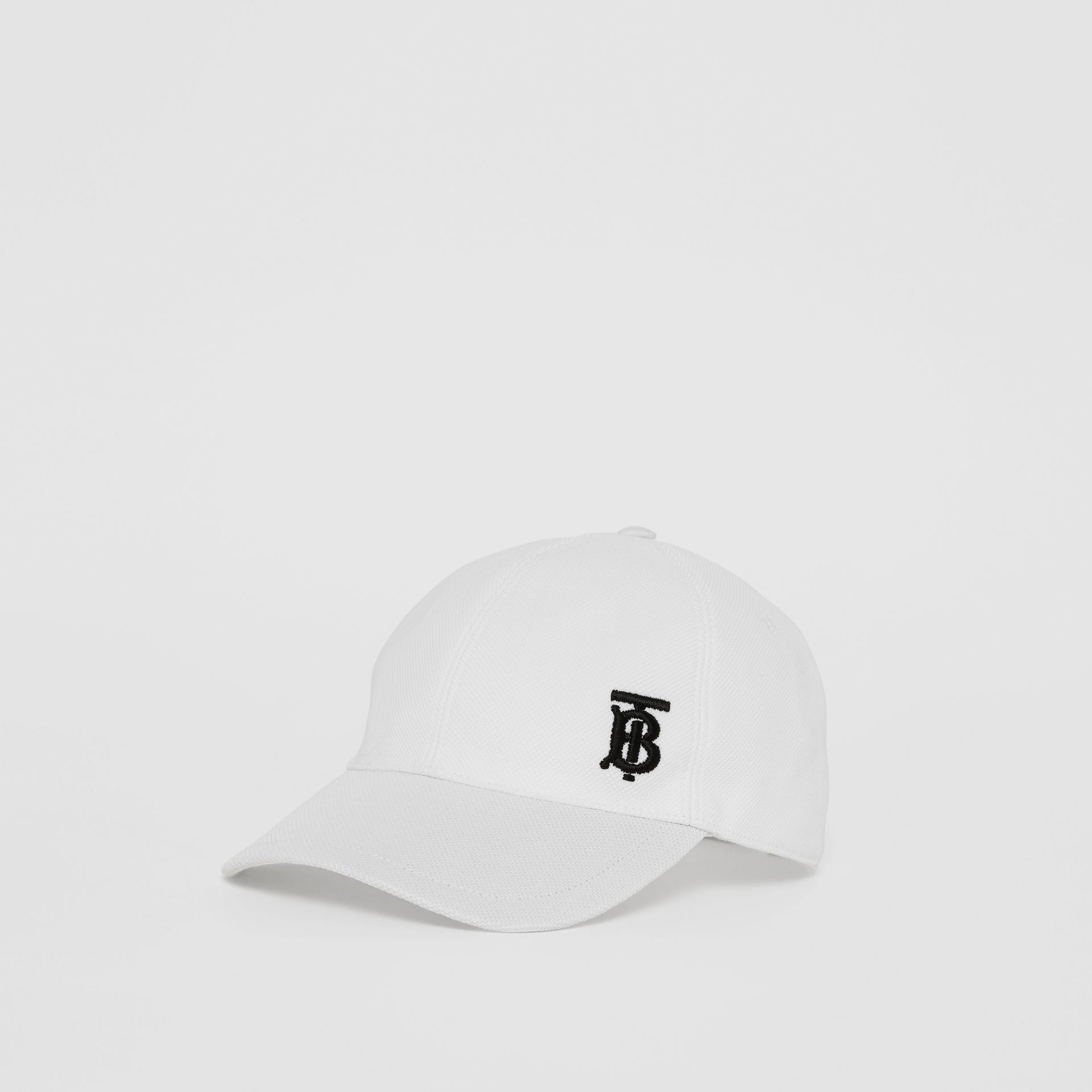 Monogram Motif Baseball Cap in White | Burberry - gallery image 4