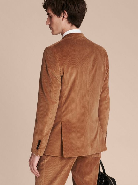 Camel Slim Fit Cotton Corduroy Jacket Camel - cell image 2