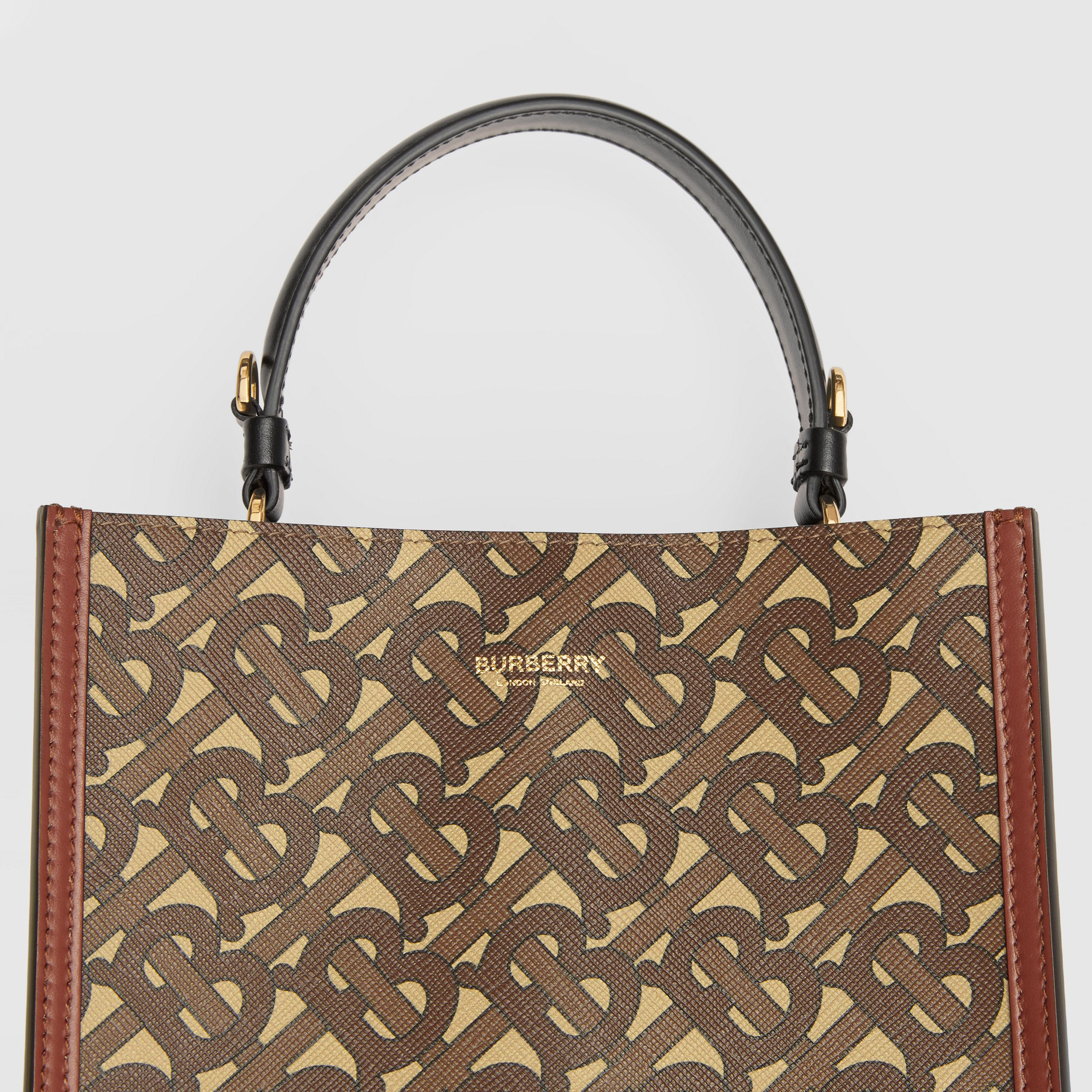 Small Monogram E-canvas Peggy Bucket Bag in Bridle Brown - Women | Burberry Australia - 2