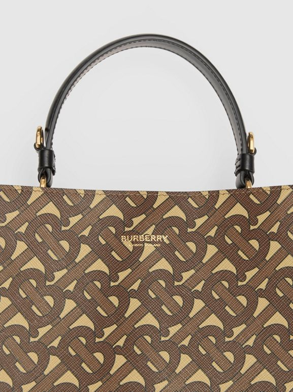 Small Monogram E-canvas Peggy Bucket Bag in Bridle Brown - Women | Burberry Australia - cell image 1