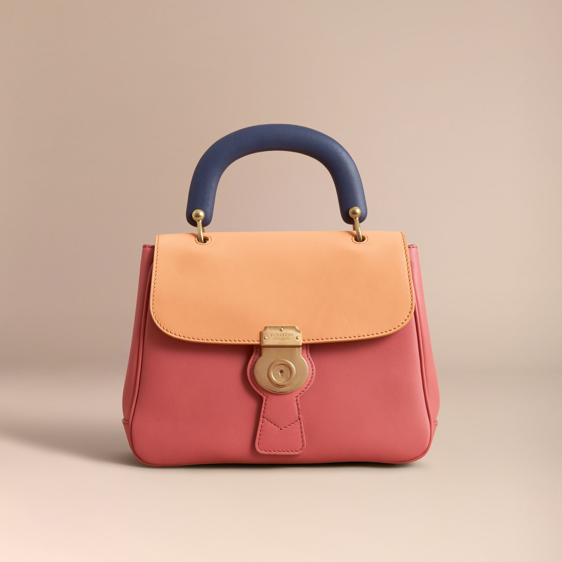 The Medium DK88 Top Handle Bag Blossom Pink/pale Clementine - gallery image 9