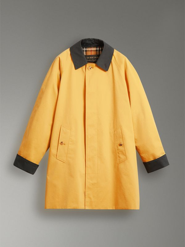 Reissued Waxed Cotton Gabardine Car Coat in Yellow - Women | Burberry Canada - cell image 3
