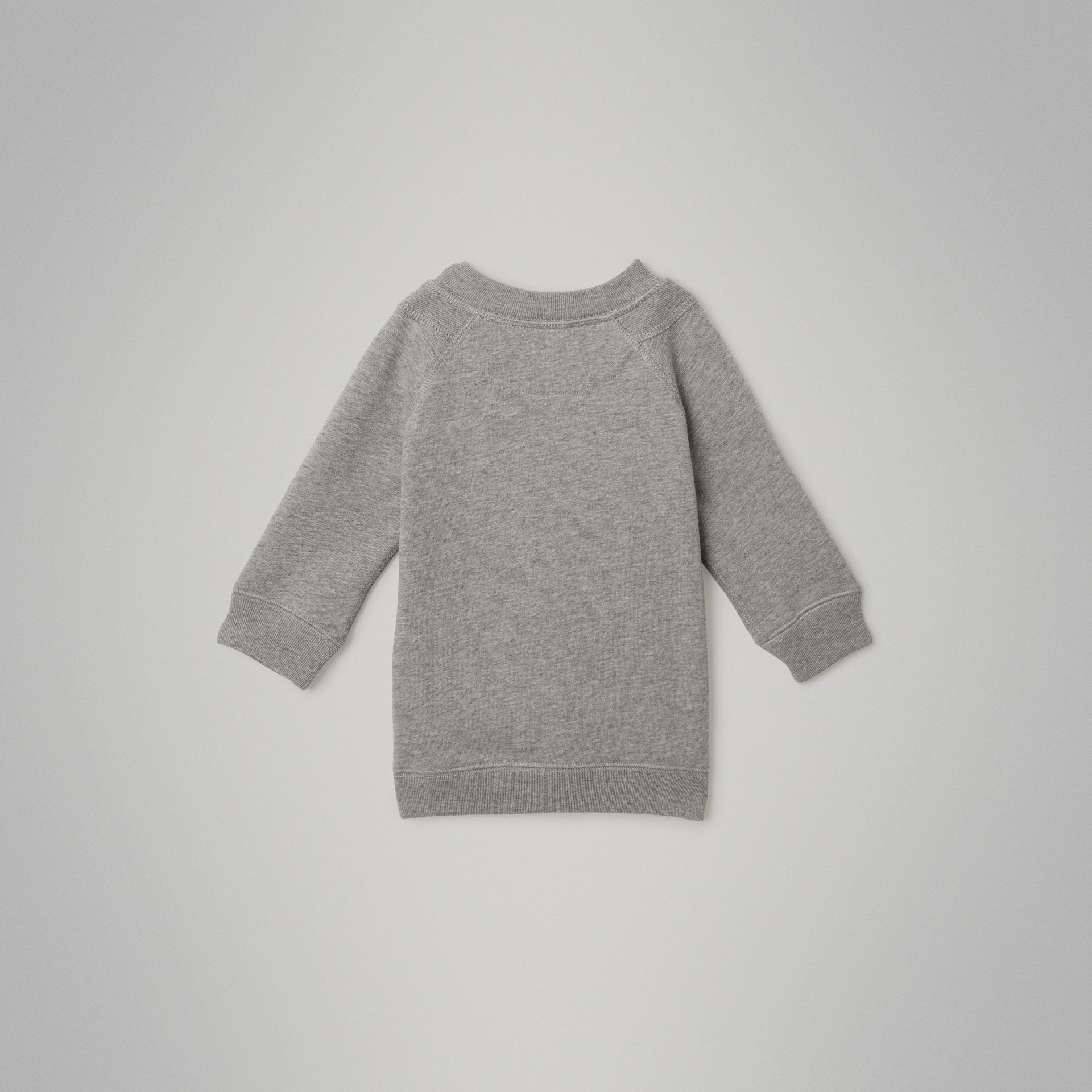 Archive Logo Cotton Dress in Grey Melange - Children | Burberry Canada - gallery image 3