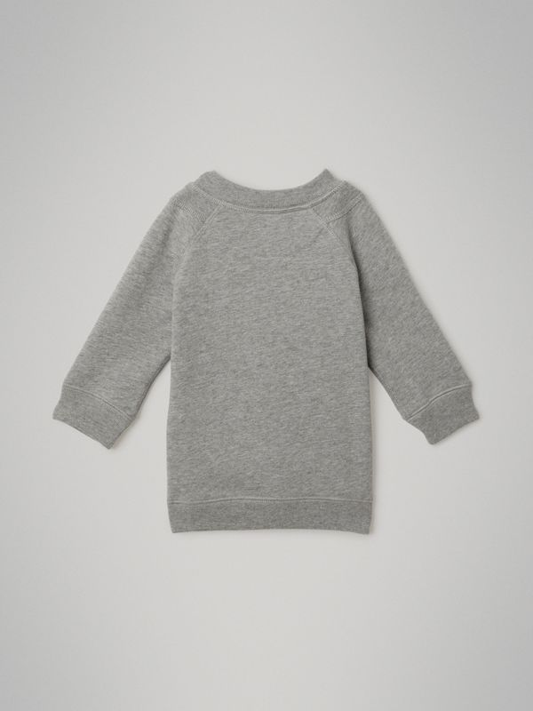 Archive Logo Cotton Dress in Grey Melange - Children | Burberry - cell image 3