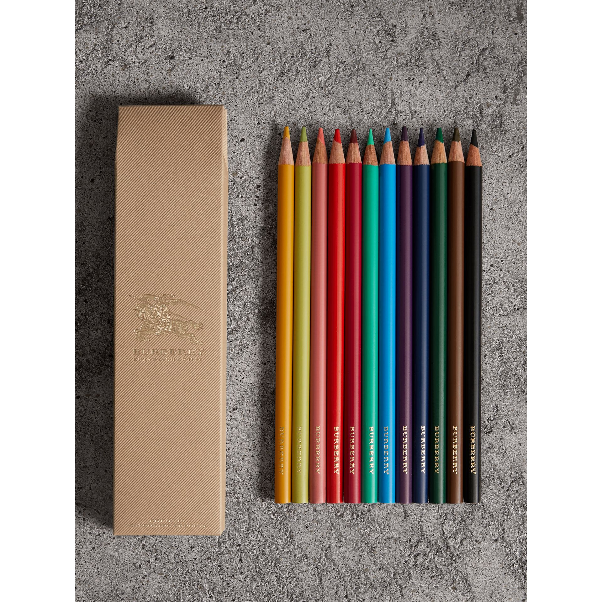 Set of Coloured Pencils in Multicolour | Burberry Singapore - gallery image 0