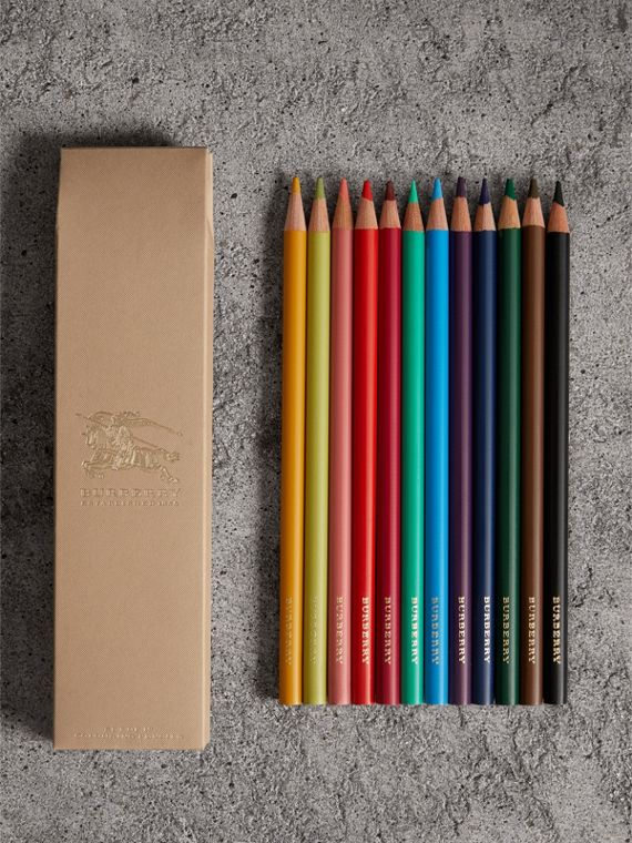 Set of Coloured Pencils in Multicolour