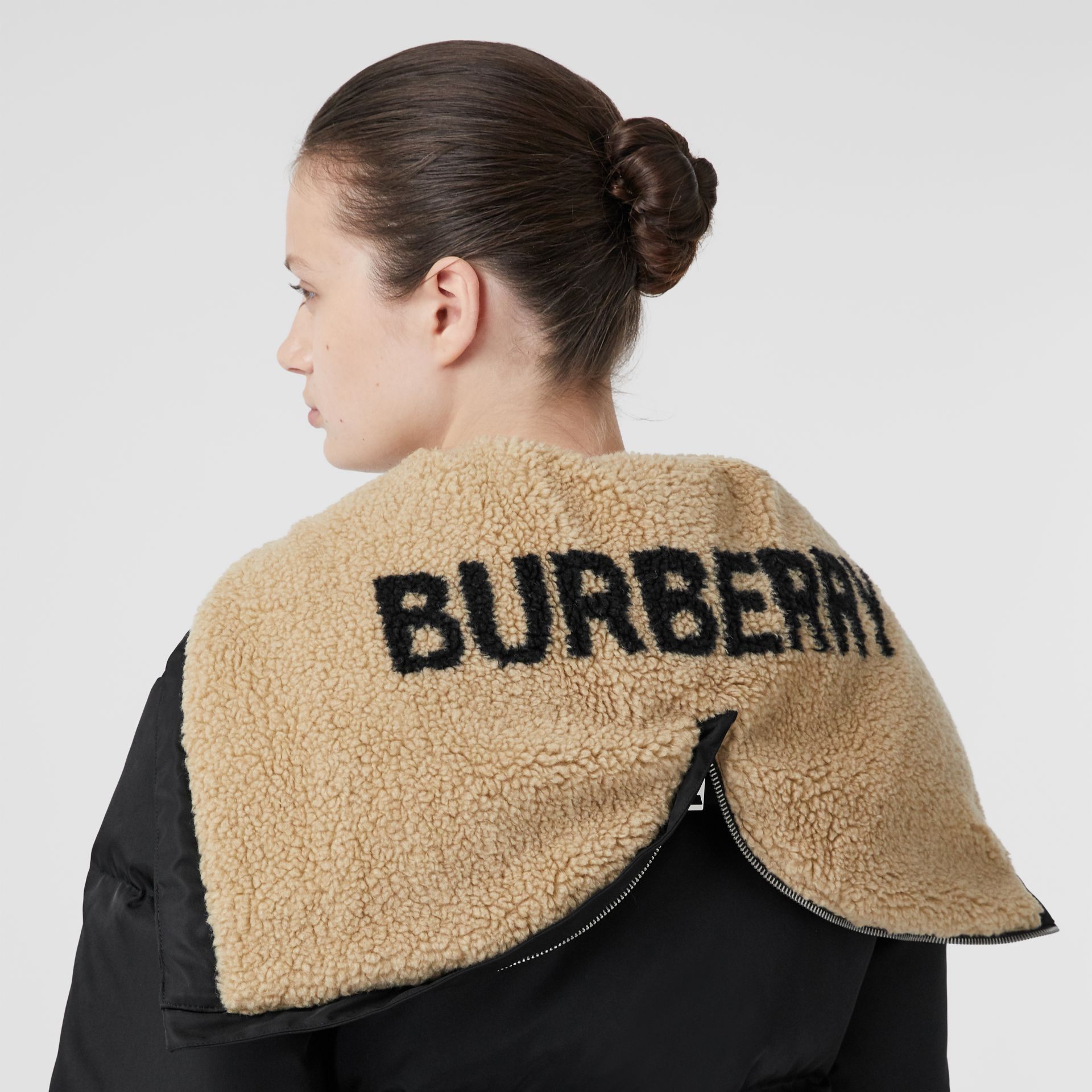 Logo Detail ECONYL® Puffer Jacket in Black - Women | Burberry - gallery image 1