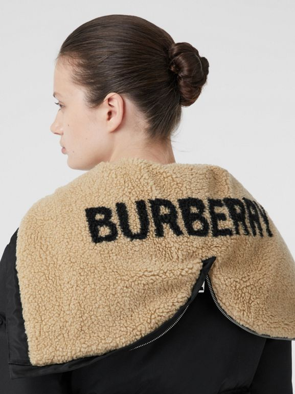 Logo Detail ECONYL® Puffer Jacket in Black - Women | Burberry - cell image 1