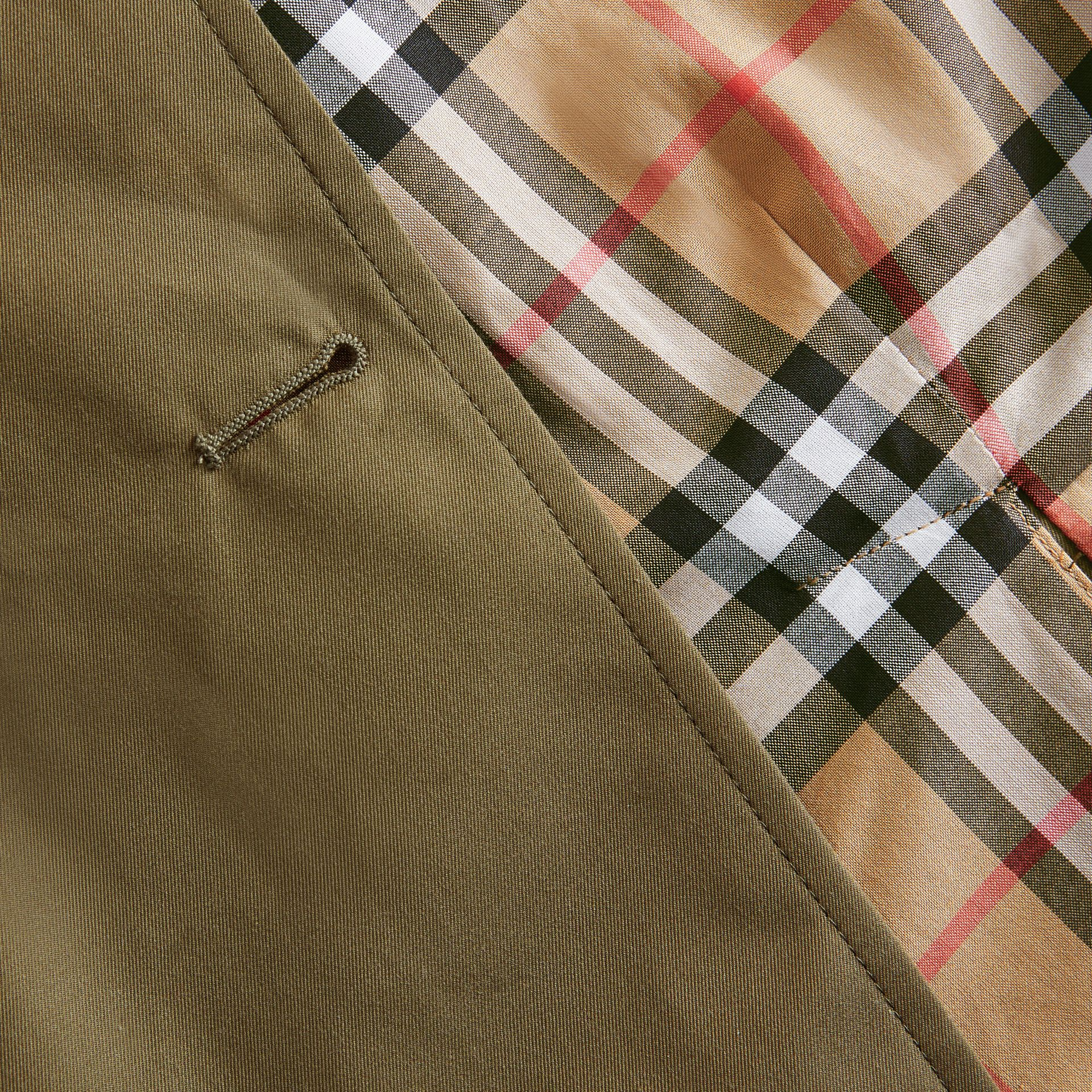 Cotton Gabardine Trench Coat in Military Olive | Burberry Hong Kong - gallery image 1
