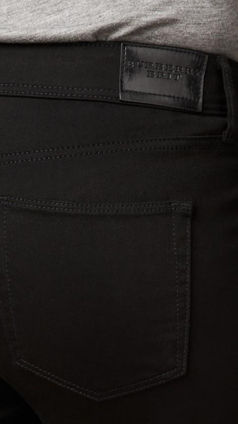 Black Skinny Fit Low-Rise Deep Black Jeans - Image 4