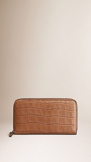 Alligator Ziparound Wallet