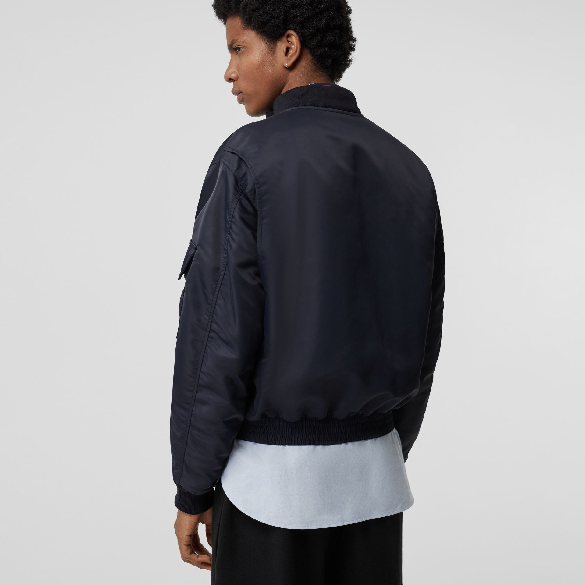 Padded Nylon Bomber Jacket in Navy - Men | Burberry - gallery image 2