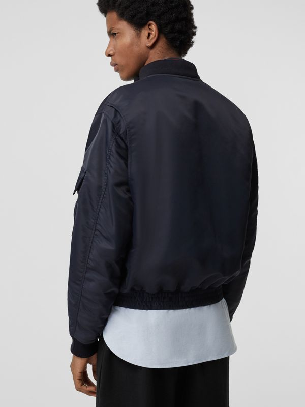 Padded Nylon Bomber Jacket in Navy - Men | Burberry - cell image 2