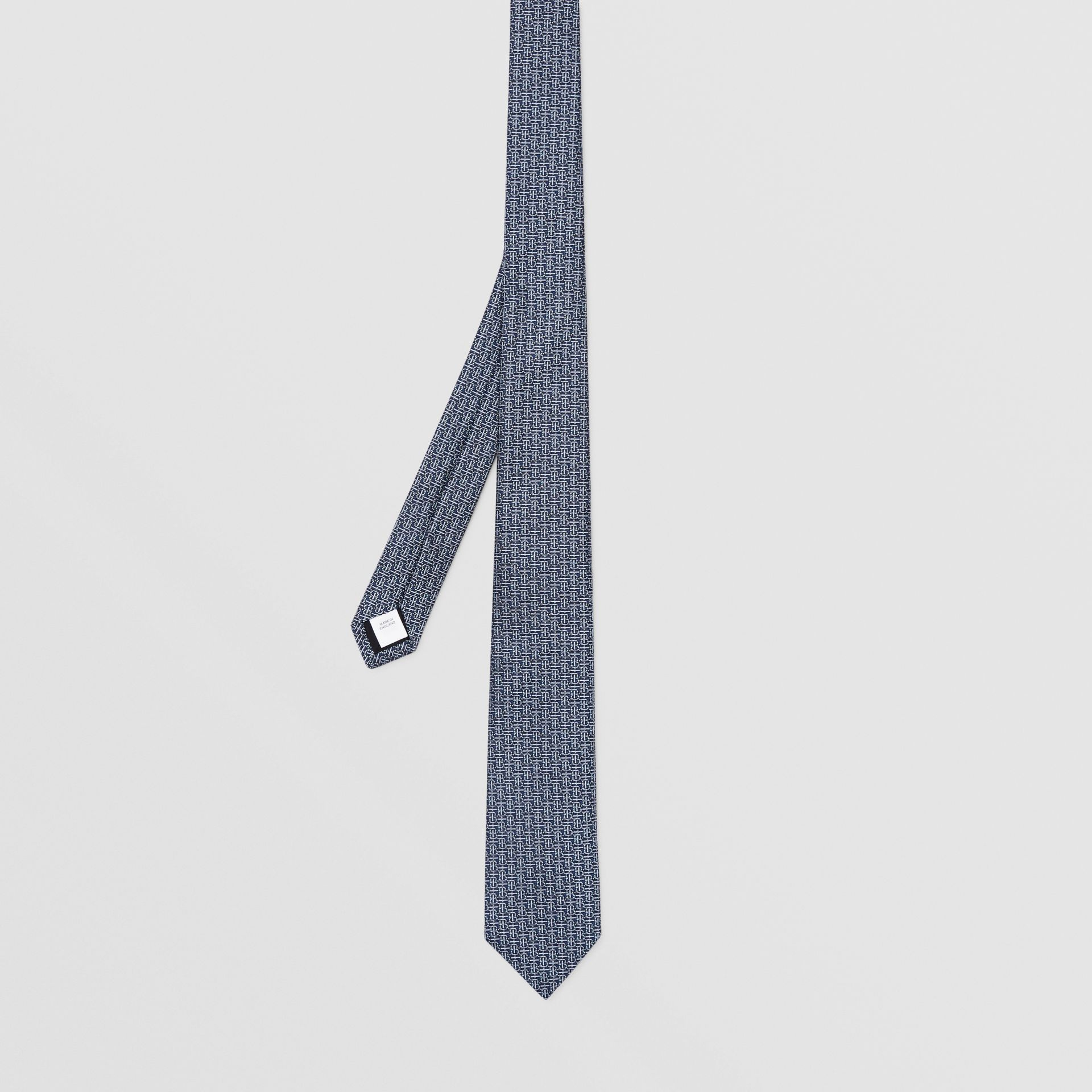 Classic Cut Monogram Silk Jacquard Tie in Sky Blue - Men | Burberry - gallery image 4