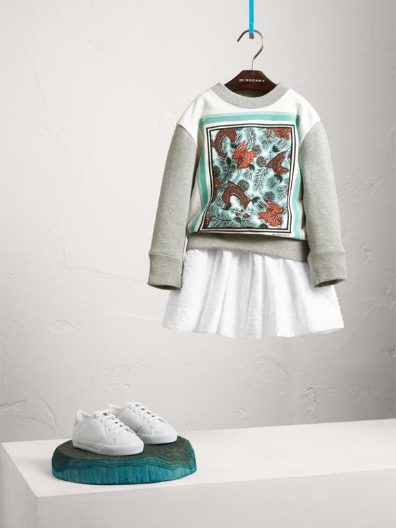 Beasts Print Cotton Sweatshirt - Girl | Burberry