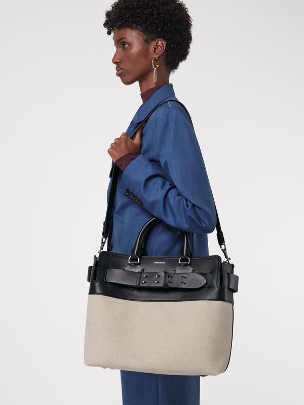 The Medium Belt Bag aus Canvas und Leder (Schwarz/steinfarben) - Damen | Burberry - cell image 3