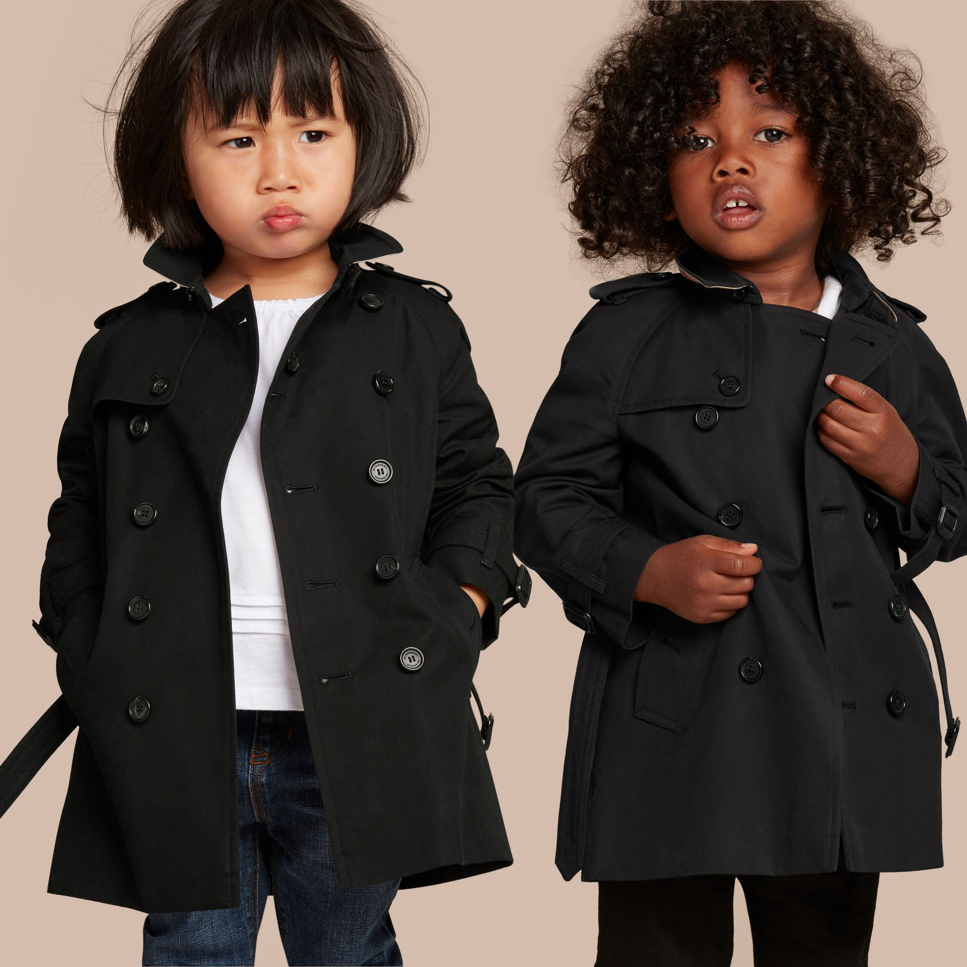 Black The Wiltshire – Heritage Trench Coat Black - gallery image 1