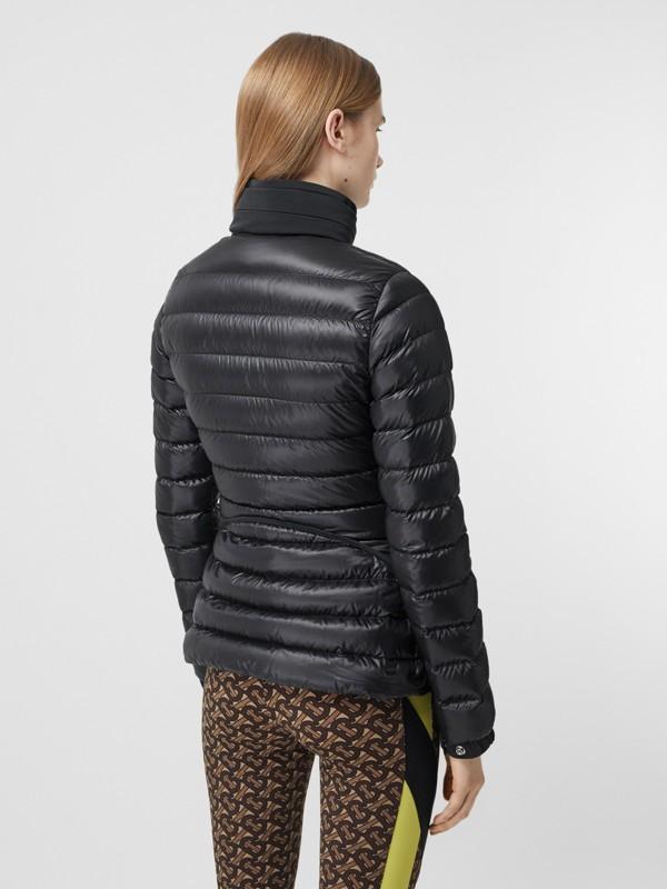 Packaway Hood Peplum Puffer Jacket in Black - Women   Burberry United Kingdom - cell image 2