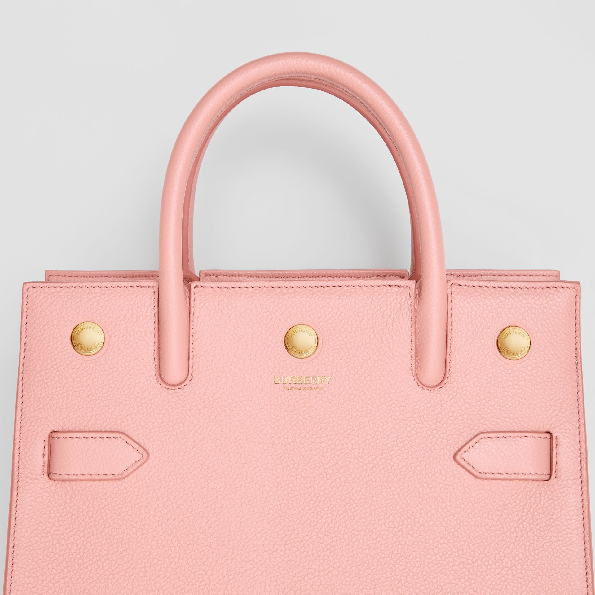 Mini Leather Two-handle Title Bag in Blush Pink - Women | Burberry United Kingdom - gallery image 1