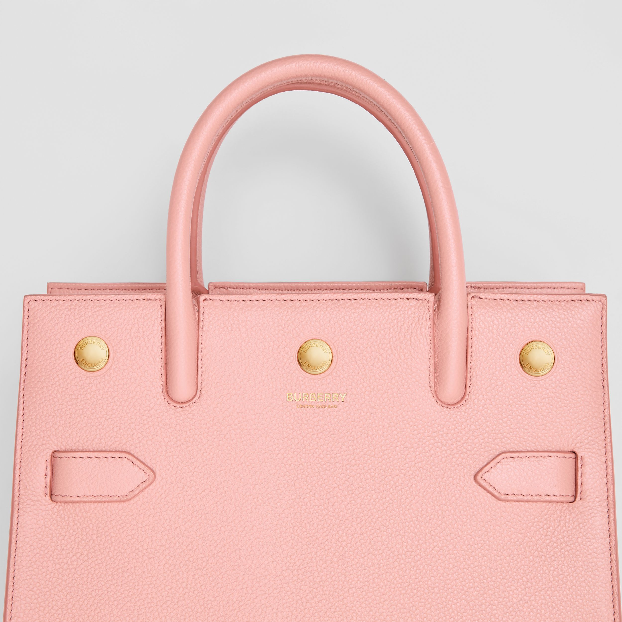 Mini Leather Two-handle Title Bag in Blush Pink - Women | Burberry - 2