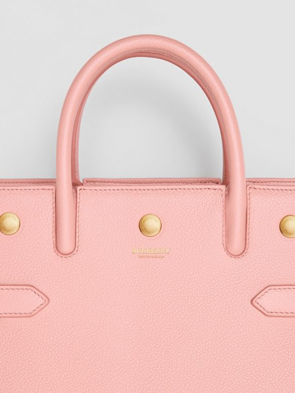 Mini Leather Two-handle Title Bag in Blush Pink - Women | Burberry United Kingdom - cell image 1