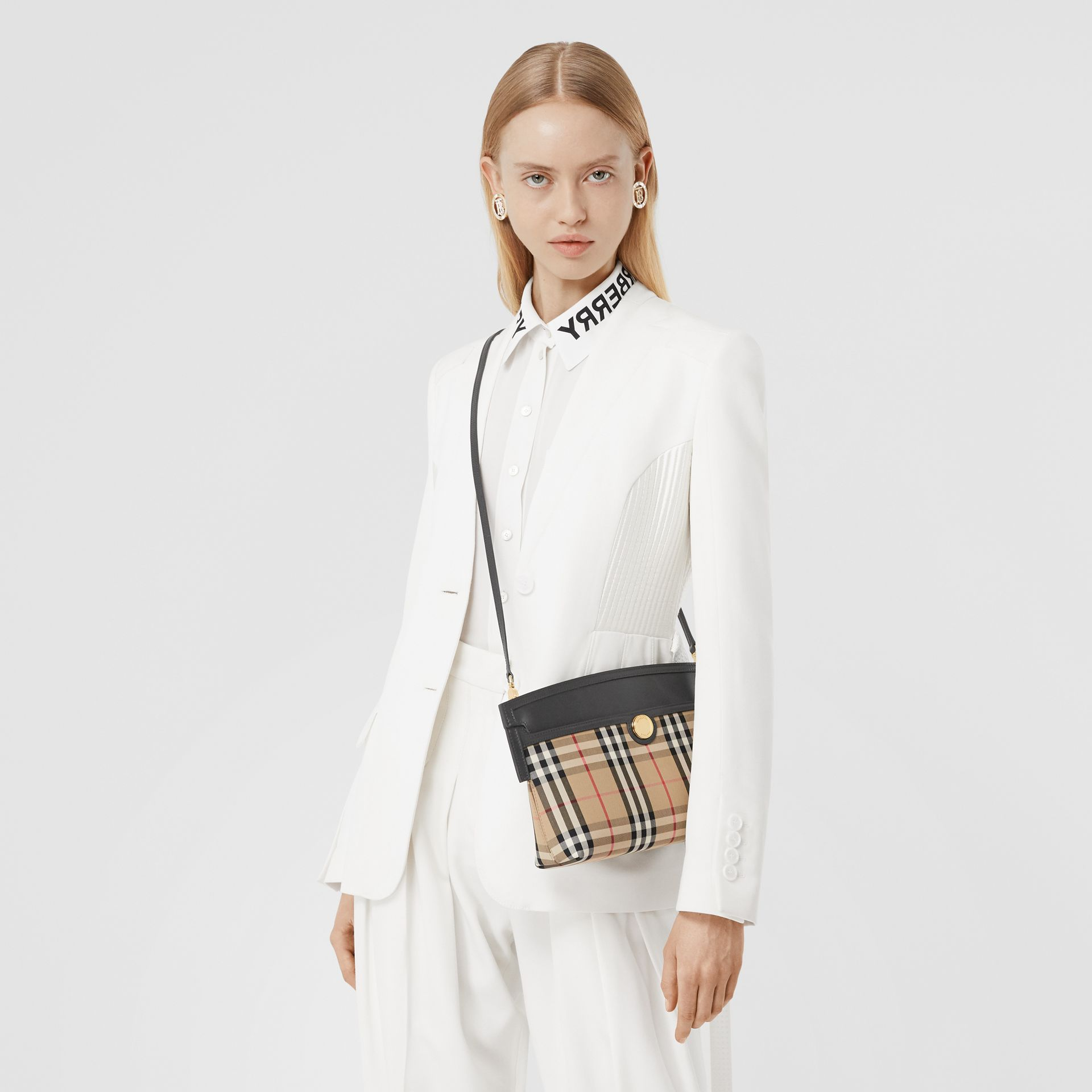 Vintage Check and Leather Society Clutch in Archive Beige - Women | Burberry - gallery image 8