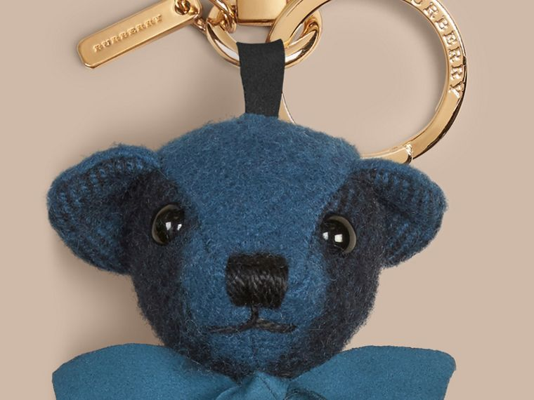 Dark aqua Thomas Bear Charm in Check Cashmere Dark Aqua - cell image 1