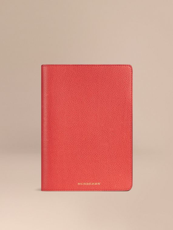 Grainy Leather iPad Mini Case Orange Red