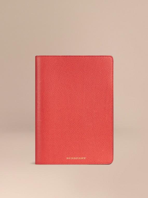 Capa para iPad mini de couro granulado Vermelho Alaranjado