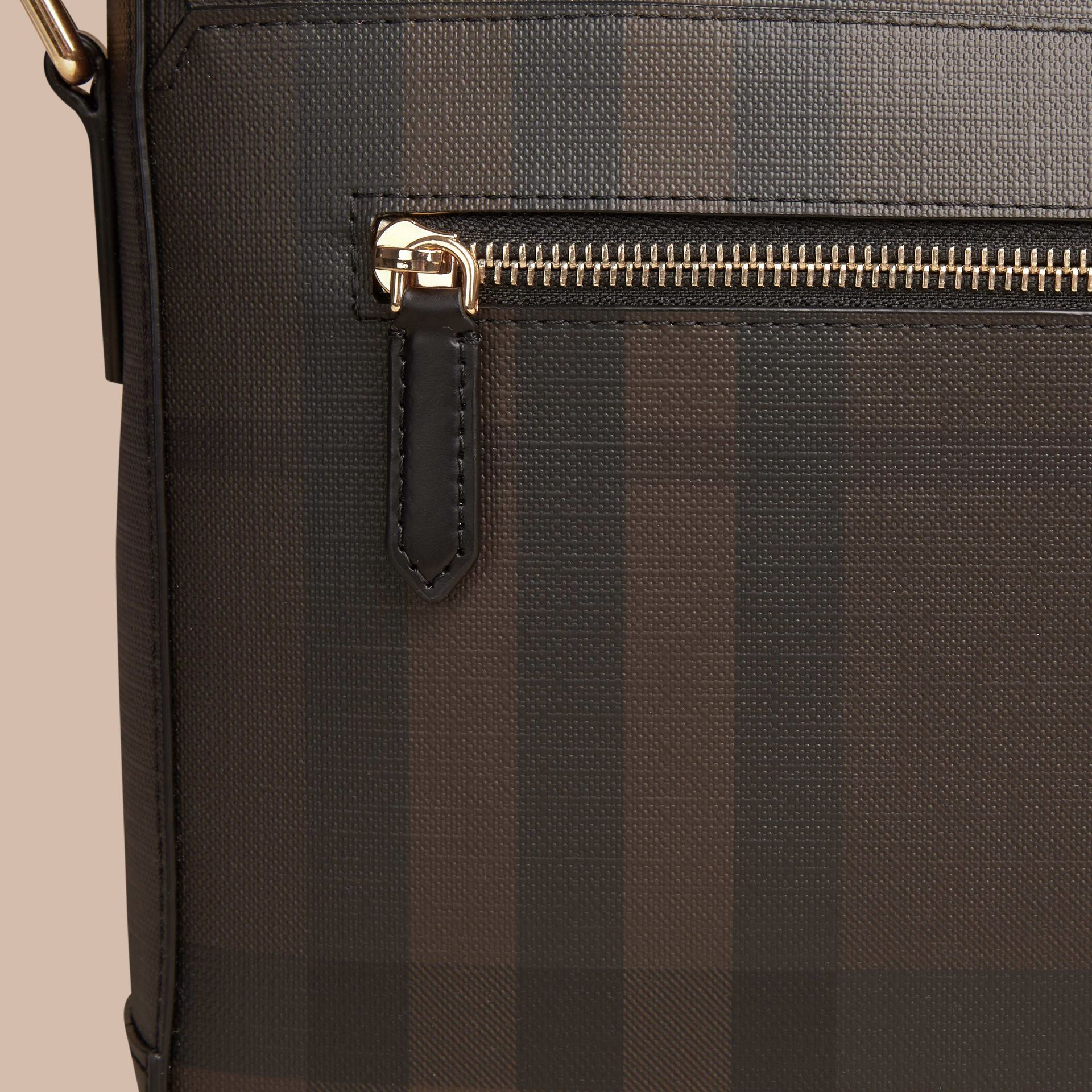 Chocolate/black Small London Check Messenger Bag Chocolate/black - gallery image 2