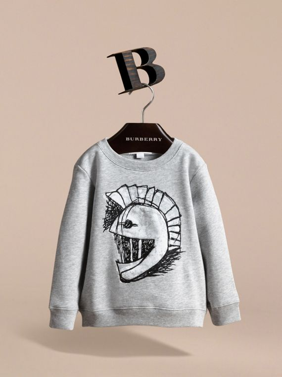 Pallas Helmet Motif Cotton Jersey Sweatshirt - Girl | Burberry - cell image 2