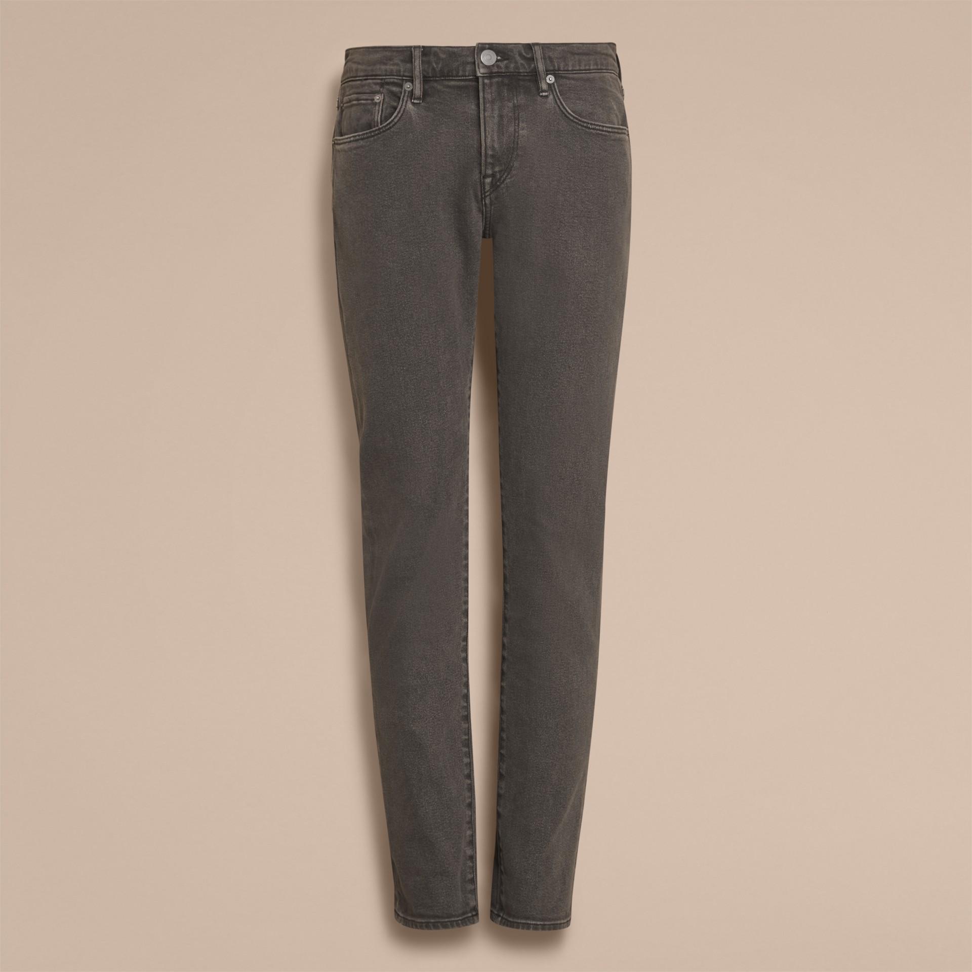 Jeans aderenti in denim stretch giapponese - immagine della galleria 4