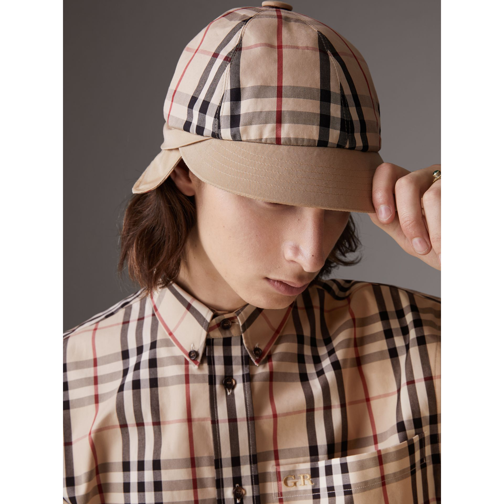 Gosha x Burberry Baseball Cap in Honey | Burberry Singapore - gallery image 2