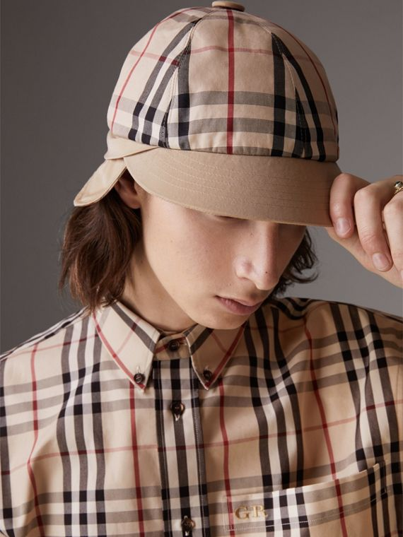 Gosha x Burberry Baseball Cap in Honey | Burberry Singapore - cell image 2