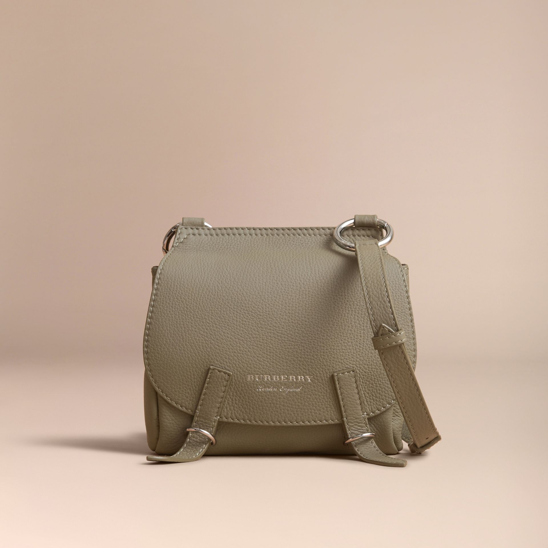 The Bridle Crossbody Bag in Deerskin in Slate Green - Women | Burberry Australia - gallery image 7