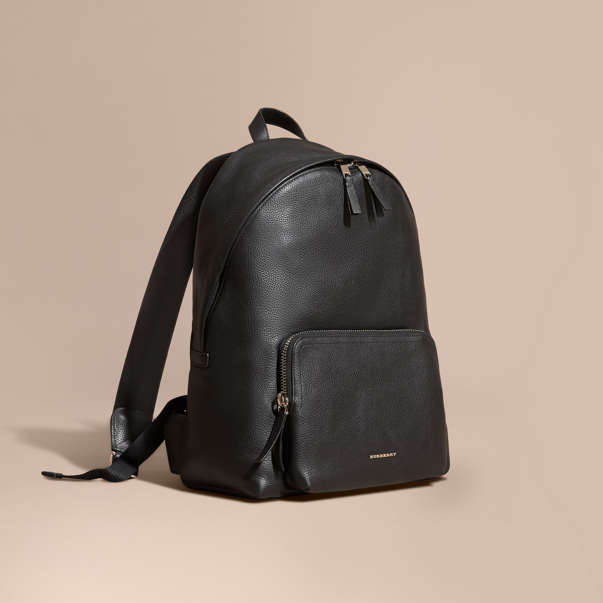 Grainy Leather Backpack - gallery image 1