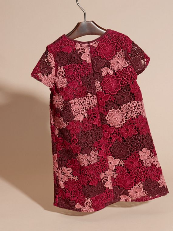 Deep claret Macramé Lace Dress - cell image 3