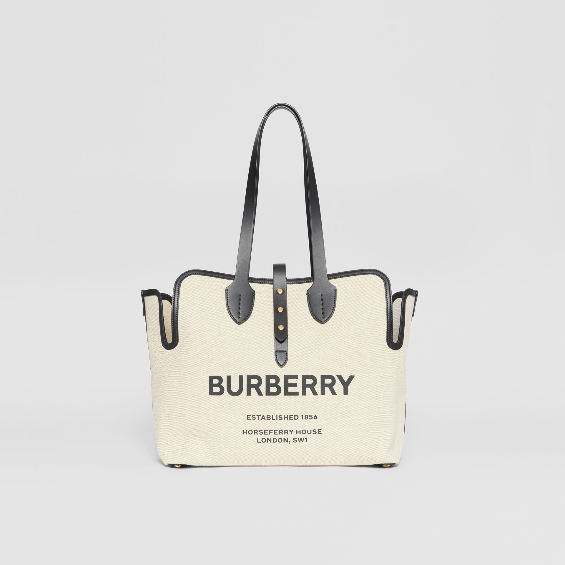 The Medium Soft Cotton Canvas Belt Bag in Black | Burberry - gallery image 0