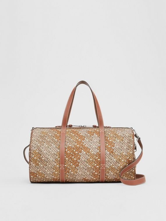 Sac The Barrel en nylon et cuir Monogram (Marron Camouflage)
