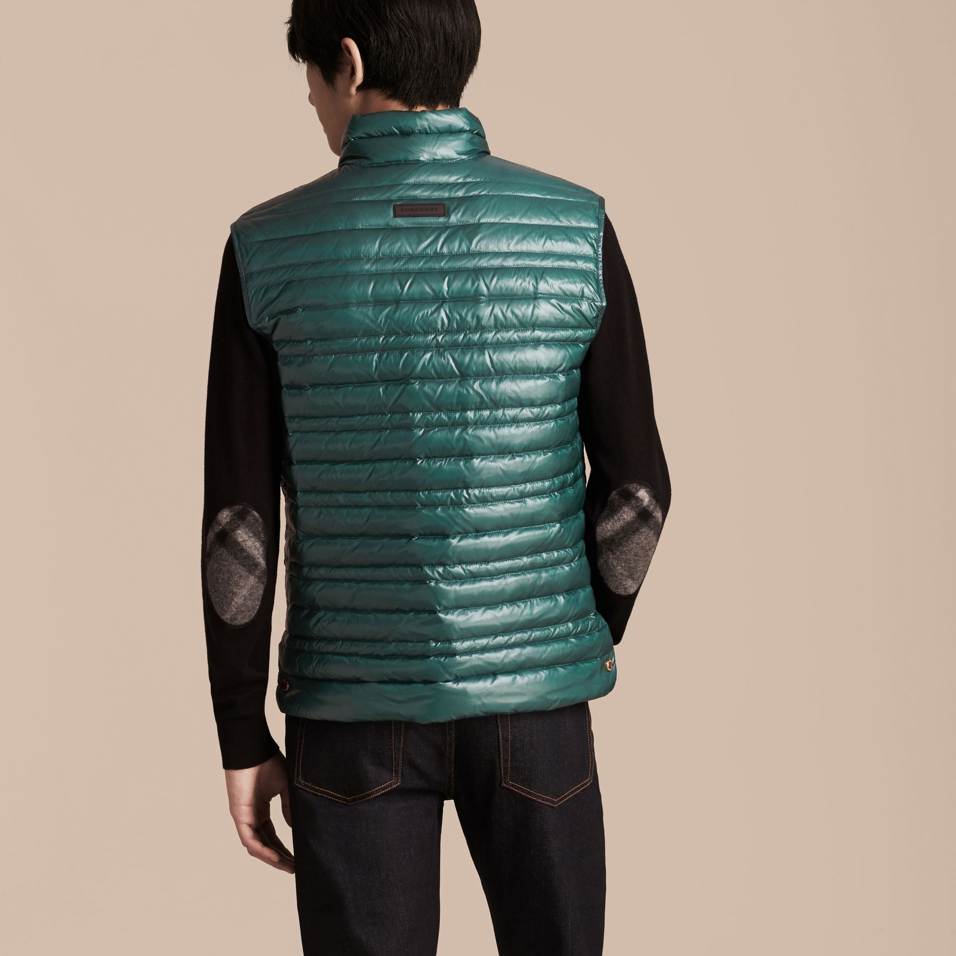 Pine green Lightweight Down-filled Gilet Pine Green - gallery image 3