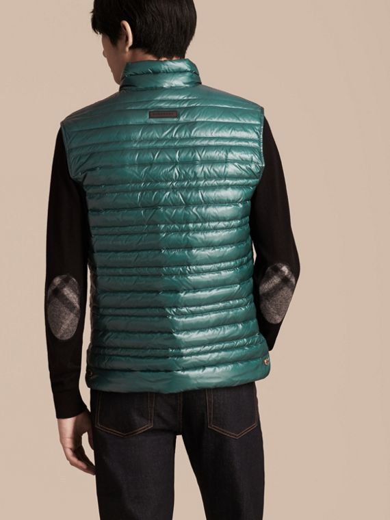 Pine green Lightweight Down-filled Gilet Pine Green - cell image 2