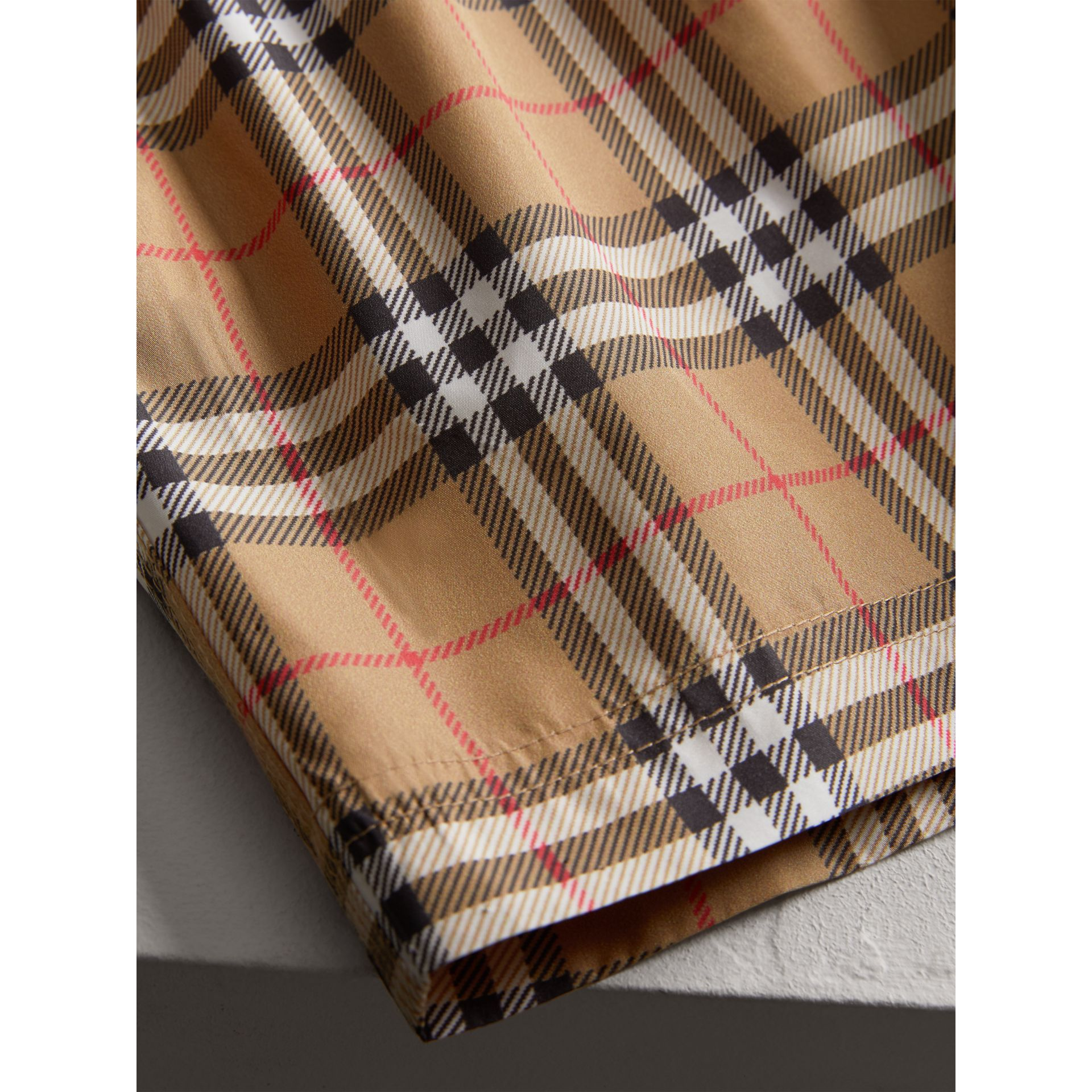 Vintage Check Swim Shorts in Camel - Boy | Burberry - gallery image 1