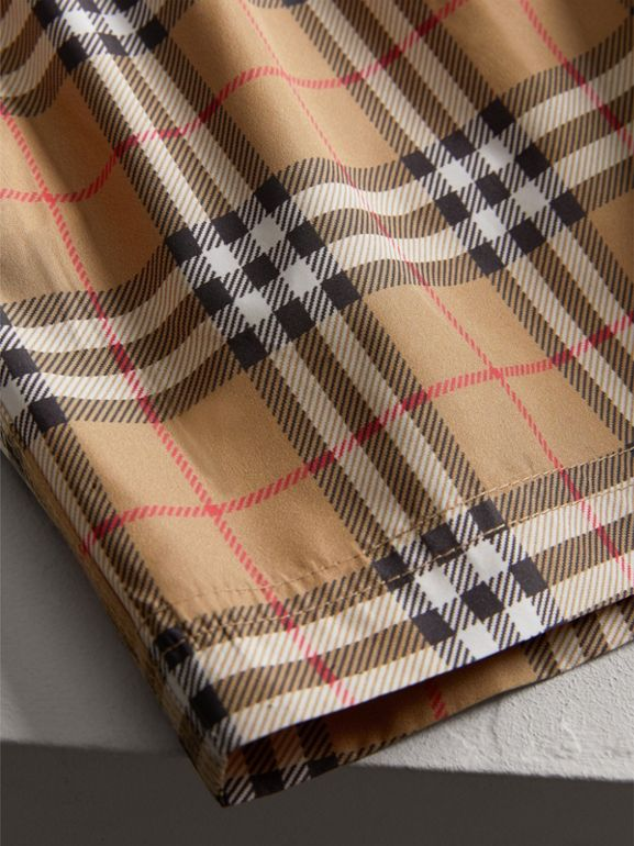 Vintage Check Swim Shorts in Camel - Boy | Burberry - cell image 1