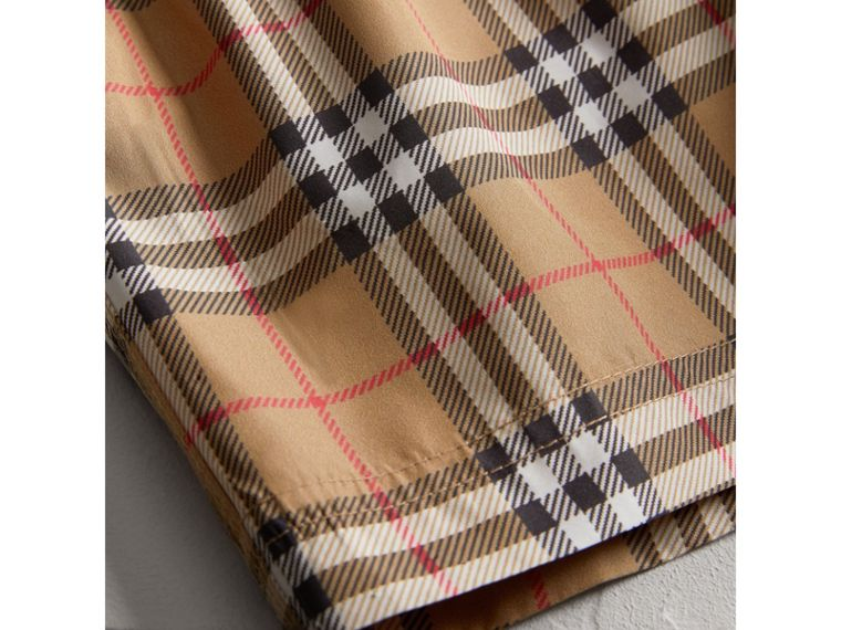 Vintage Check Swim Shorts in Camel - Boy | Burberry Australia - cell image 1
