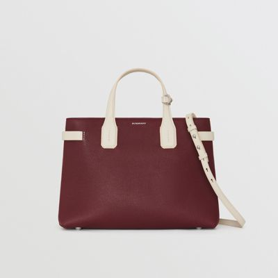 Burberry - Sac The Banner moyen en cuir bicolore - 7