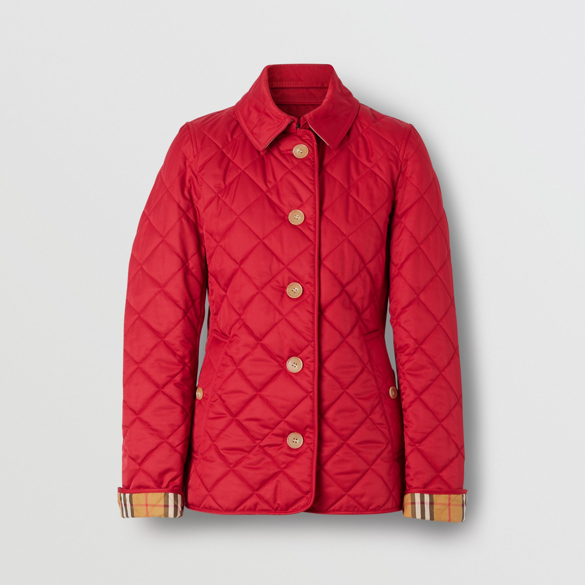Diamond Quilted Jacket in Military Red - Women | Burberry - gallery image 3