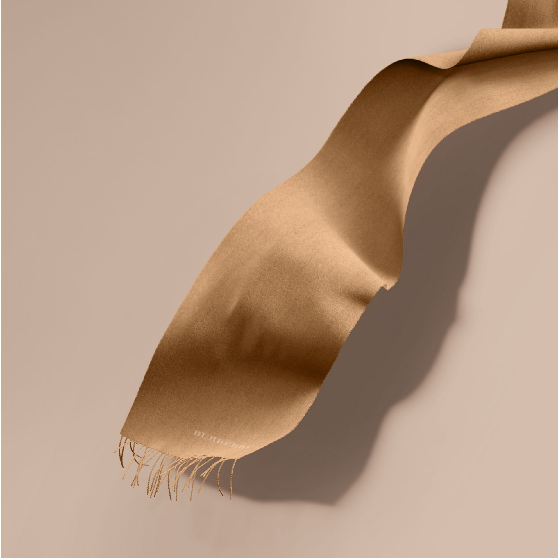 The Classic Cashmere Scarf in Camel - gallery image 1