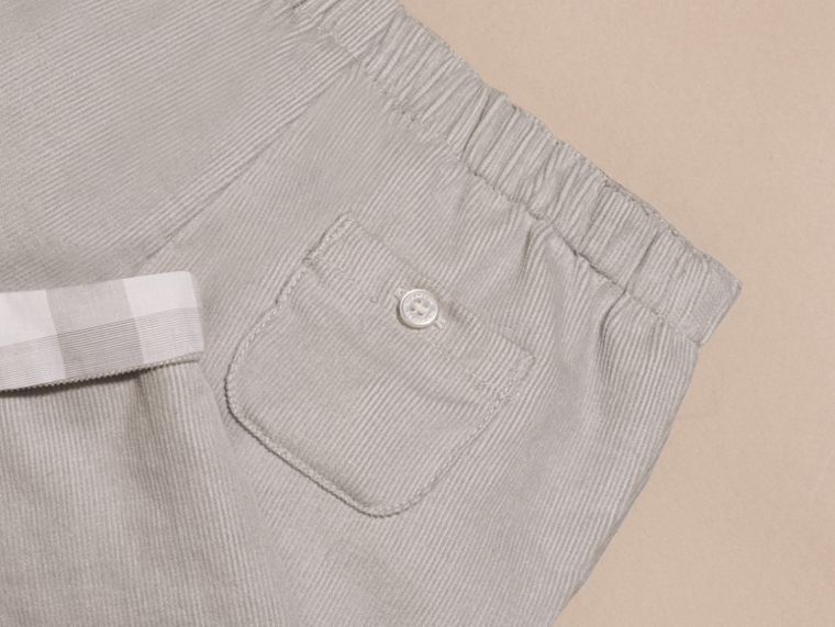 Mid grey Check Turn-Up Cotton Trousers - cell image 1