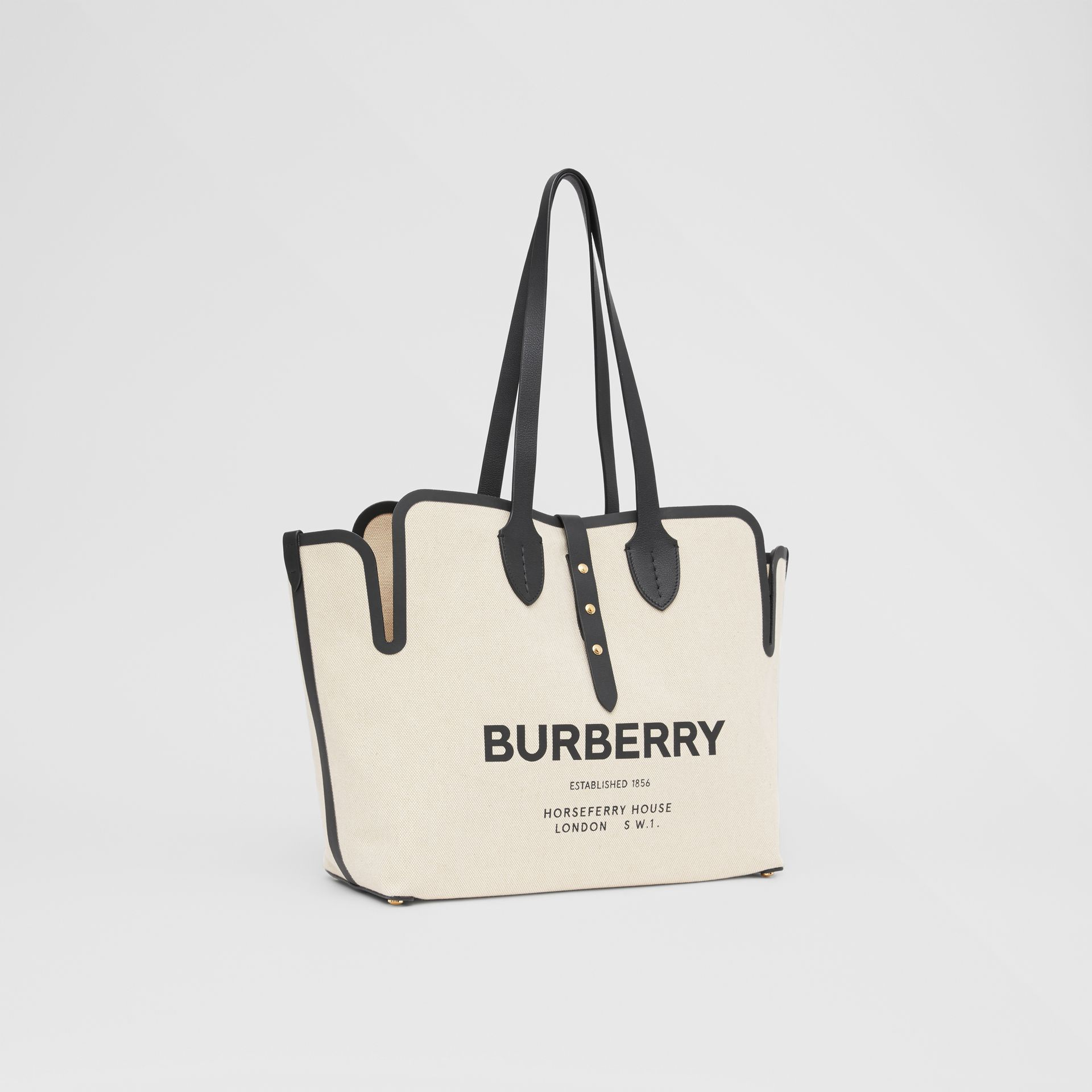 The Medium Soft Cotton Canvas Belt Bag in Black - Women | Burberry United States - gallery image 4